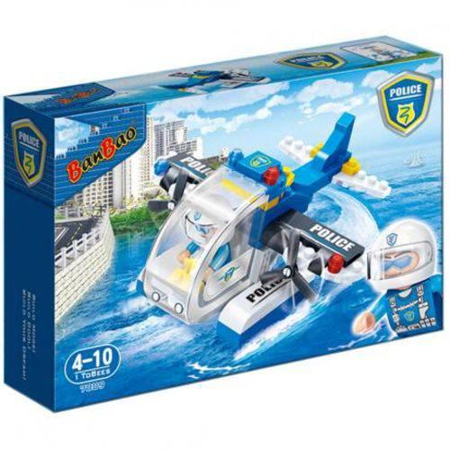 Banbao Bloco de Montar Hidroavião da Policia 112 Peças