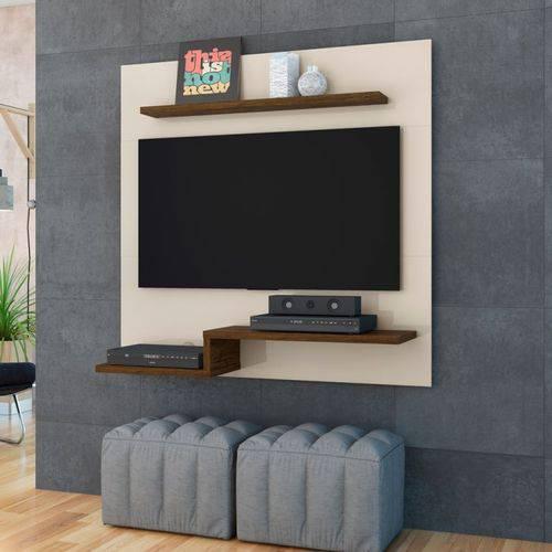 Bancada Suspensa para Tv Até 50¿ Luna Off White com Savana - Móveis Madetec