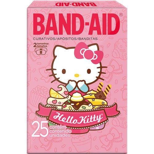 Band Aid Johnson & Johnson Hello Kitty - Contém 25