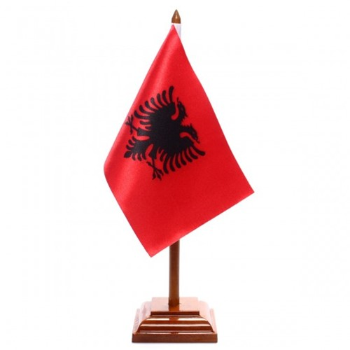 Bandeira de Mesa Albânia 6437PM