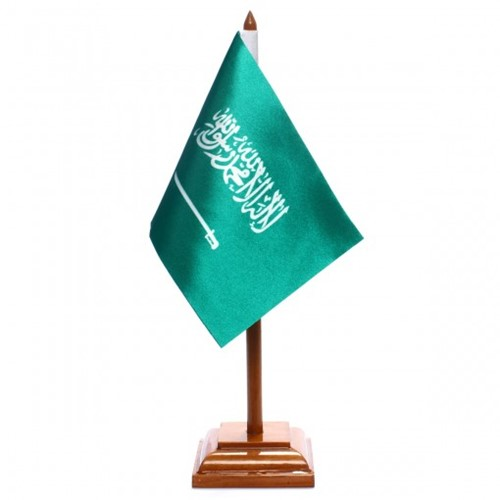 Bandeira de Mesa Arábia Saudita 6444PM