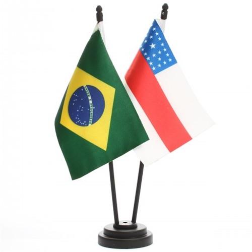 Bandeira de Mesa Brasil e Amazonas 6440PP