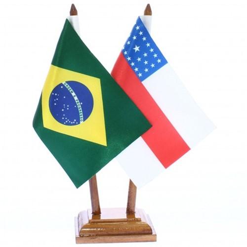 Bandeira de Mesa Brasil e Amazonas 6468PM