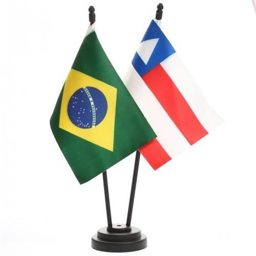 Bandeira de Mesa Brasil e Bahia 6441PP