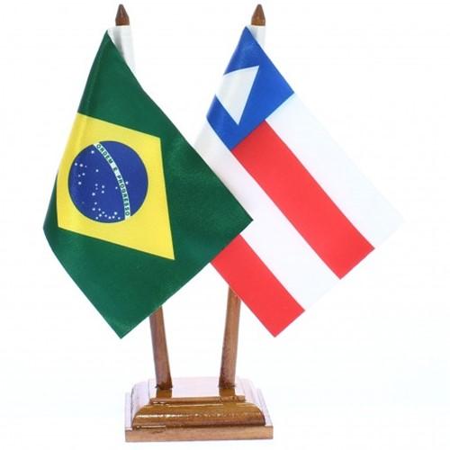 Bandeira de Mesa Brasil e Bahia 6469PM