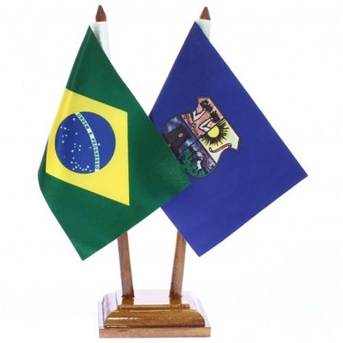 Bandeira de Mesa Brasil e Belém 6411PM