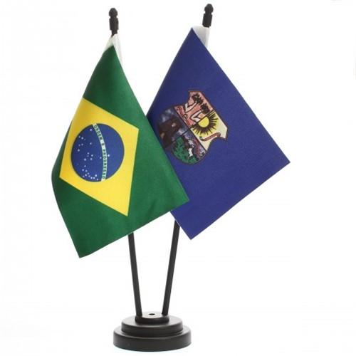 Bandeira de Mesa Brasil e Belém 6494PP