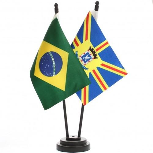 Bandeira de Mesa Brasil e Campo Grande 6497PP