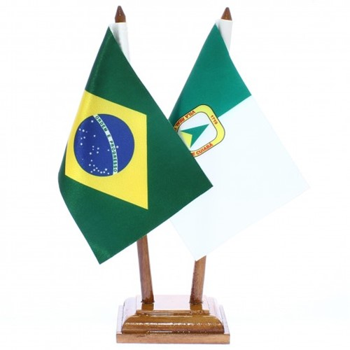Bandeira de Mesa Brasil e Cuiabá 6415PM