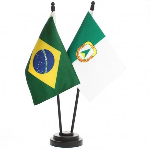 Bandeira de Mesa Brasil e Cuiabá 6498PP