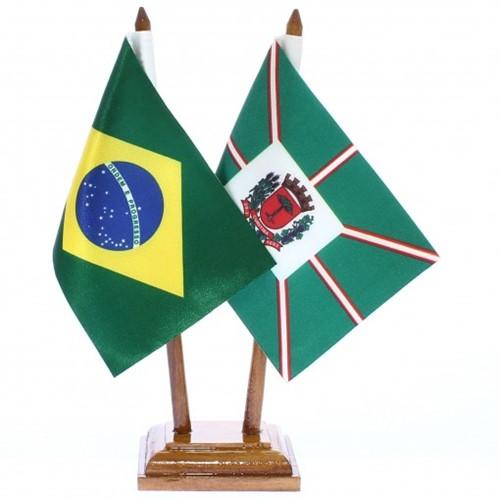 Bandeira de Mesa Brasil e Curitiba 6416PM