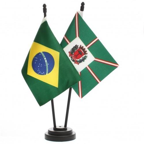 Bandeira de Mesa Brasil e Curitiba 6499PP