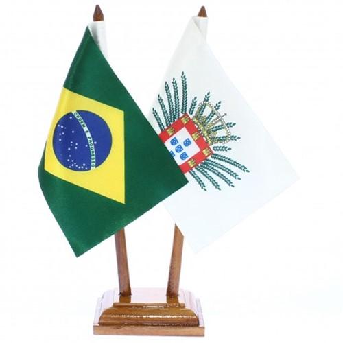 Bandeira de Mesa Brasil e Domínio Espanhol 6522PM