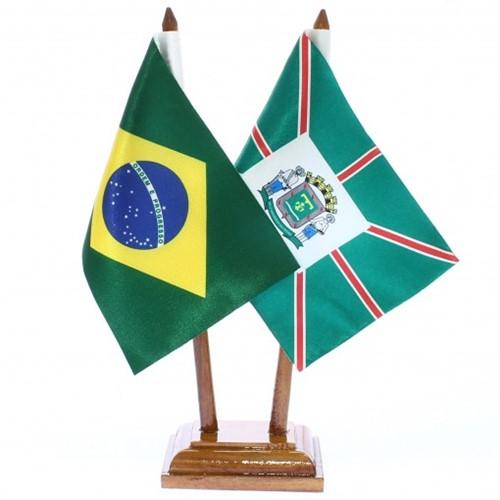 Bandeira de Mesa Brasil e Goiânia 6419PM