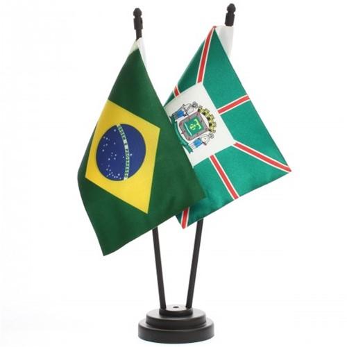 Bandeira de Mesa Brasil e Goiânia 6502PP