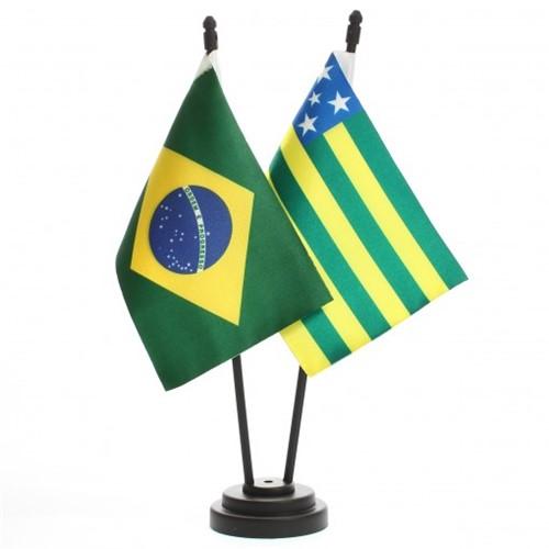 Bandeira de Mesa Brasil e Goiás 6445PP