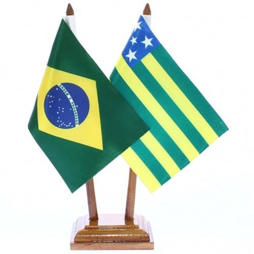 Bandeira de Mesa Brasil e Goiás 6473PM