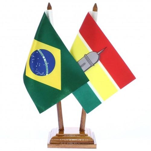 Bandeira de Mesa Brasil e Macapá 6421PM