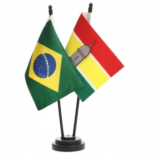 Bandeira de Mesa Brasil e Macapá 6504PP