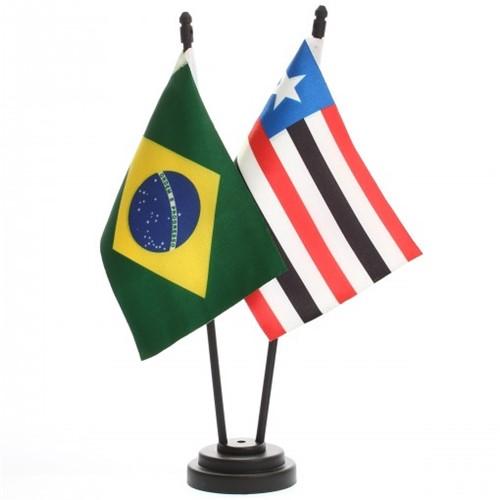 Bandeira de Mesa Brasil e Maranhão 6446PP
