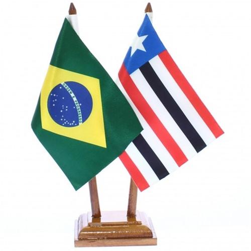 Bandeira de Mesa Brasil e Maranhão 6474PM