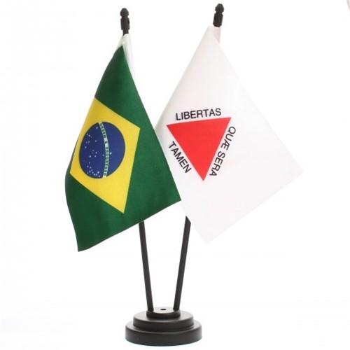 Bandeira de Mesa Brasil e Minas Gerais 6449PP