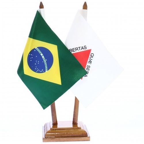 Bandeira de Mesa Brasil e Minas Gerais 6477PM