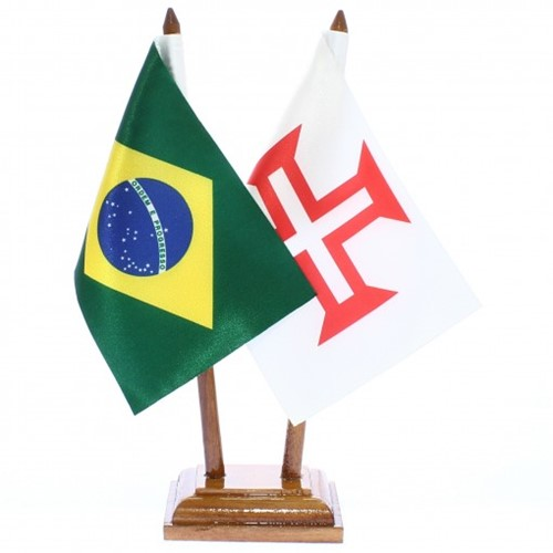 Bandeira de Mesa Brasil e Ordem de Cristo 6524PM
