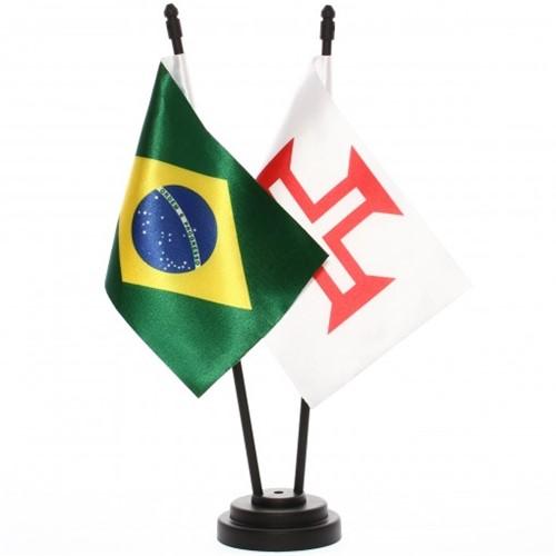Bandeira de Mesa Brasil e Ordem de Cristo 6537PP