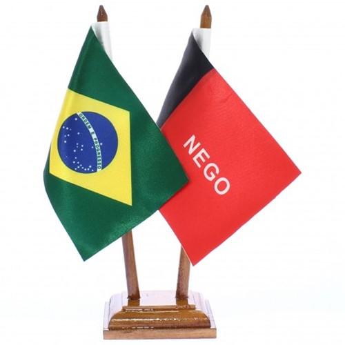 Bandeira de Mesa Brasil e Paraiba 6479PM
