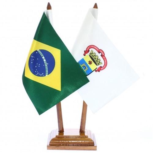 Bandeira de Mesa Brasil e Porto Alegre 6426PM