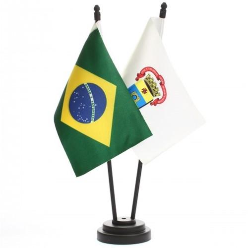 Bandeira de Mesa Brasil e Porto Alegre 6509PP