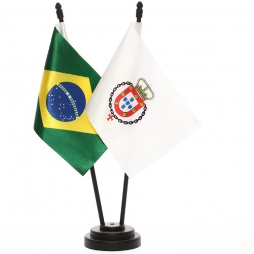 Bandeira de Mesa Brasil e Real do Século XVIII 6541PP