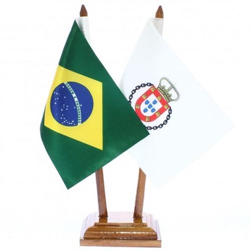 Bandeira de Mesa Brasil e Real do Século XVIII 6528PM