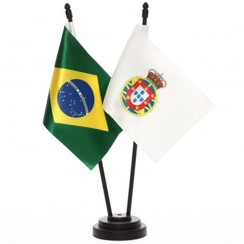 Bandeira de Mesa Brasil e Reino Unido de Portugal 6543PP