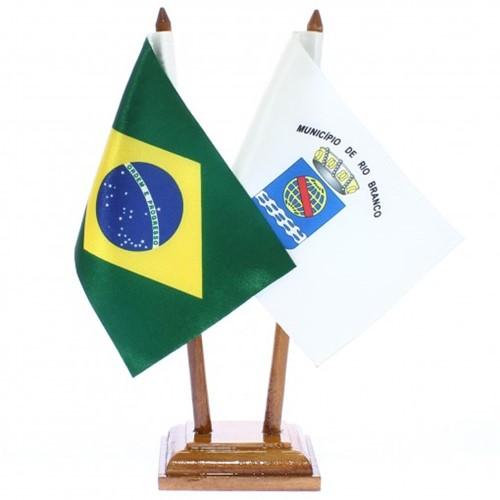 Bandeira de Mesa Brasil e Rio Branco 6429PM
