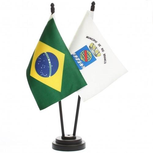 Bandeira de Mesa Brasil e Rio Branco 6512PP