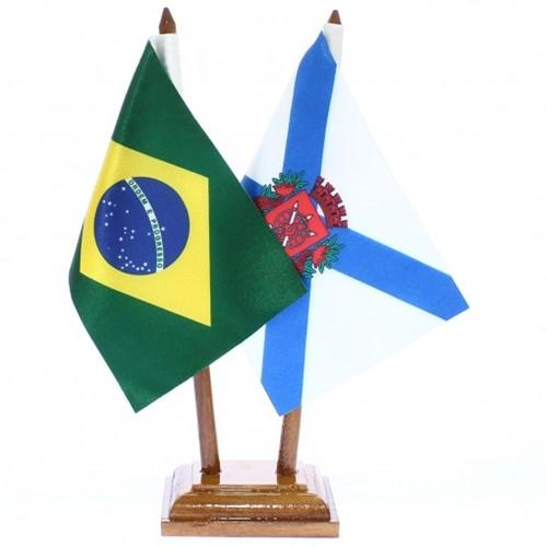 Bandeira de Mesa Brasil e Rio de Janeiro 6430PM