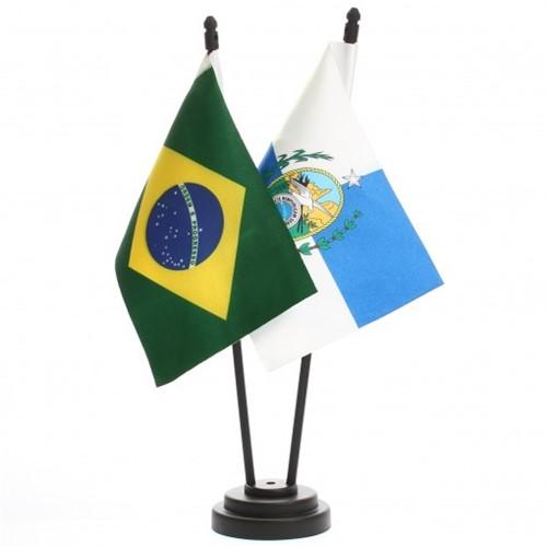 Bandeira de Mesa Brasil e Rio de Janeiro 6455PP