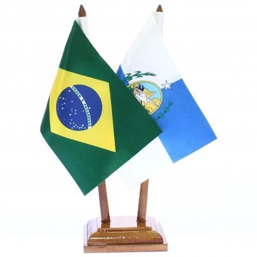 Bandeira de Mesa Brasil e Rio de Janeiro 6483PM