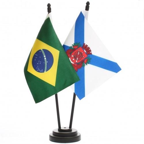 Bandeira de Mesa Brasil e Rio de Janeiro 6513PP