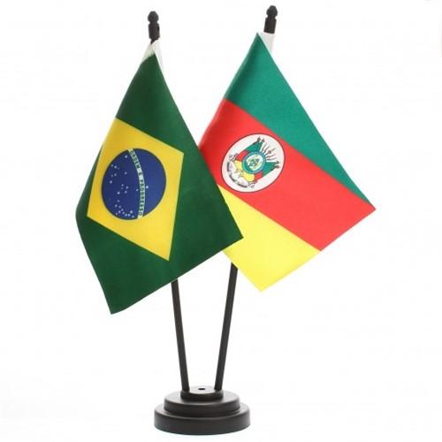 Bandeira de Mesa Brasil e Rio Grande do Sul 6457PP