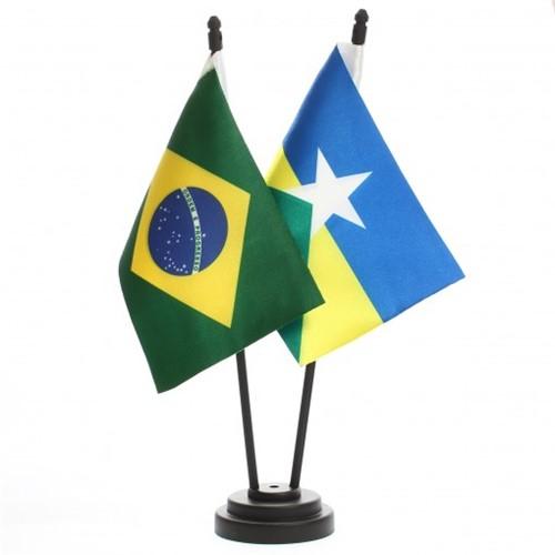 Bandeira de Mesa Brasil e Rondônia 6458PP