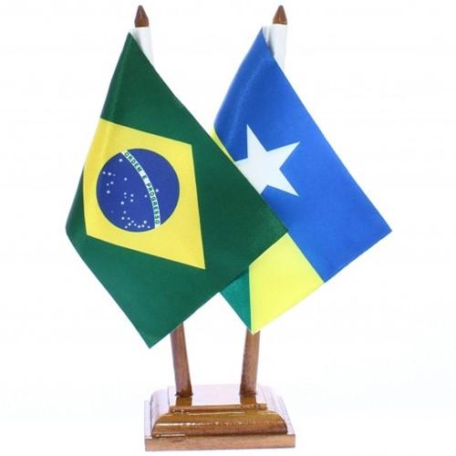 Bandeira de Mesa Brasil e Rondônia 6486PM
