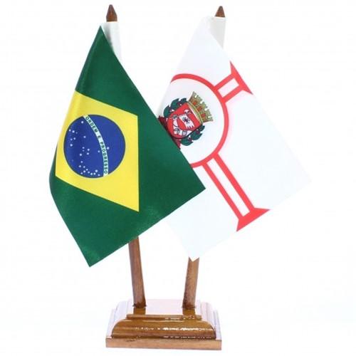 Bandeira de Mesa Brasil e São Paulo 6433PM