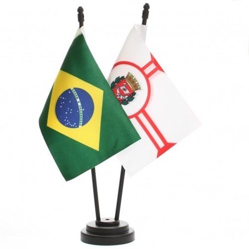 Bandeira de Mesa Brasil e São Paulo 6516PP
