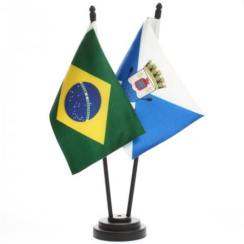 Bandeira de Mesa Brasil e Teresina 6517PP