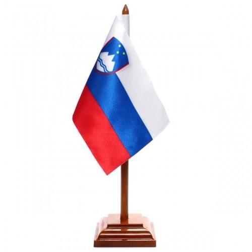 Bandeira de Mesa Eslovênia 6498PM
