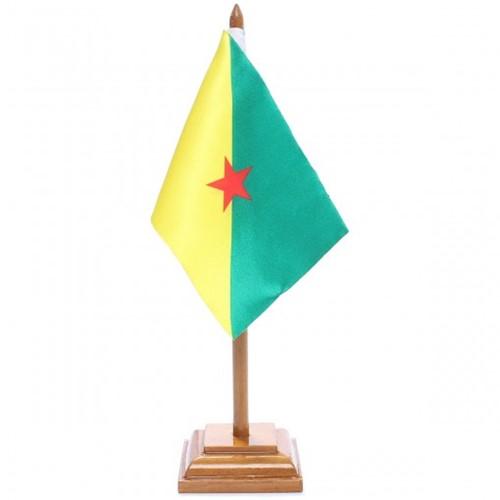 Bandeira de Mesa Guiana Francesa 6519PM