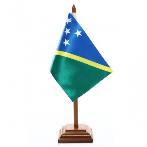 Bandeira de Mesa Ilhas Salomão 6537PM